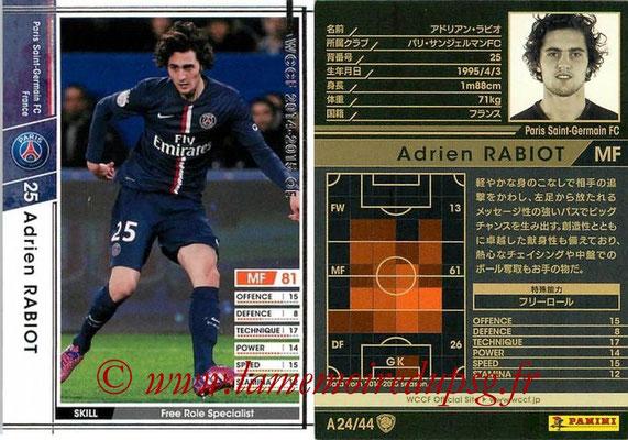 2013-14 - WCCF - N° A24 - Adrien RABIOT (Paris Saint-Germain)