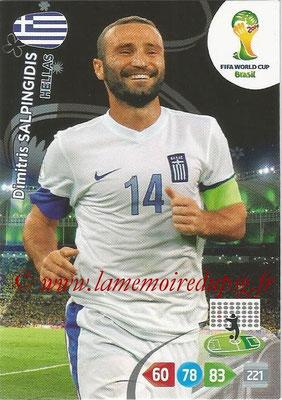 2014 - Panini FIFA World Cup Brazil Adrenalyn XL - N° 186 - Dimitris SALPINGIDIS (Grèce)