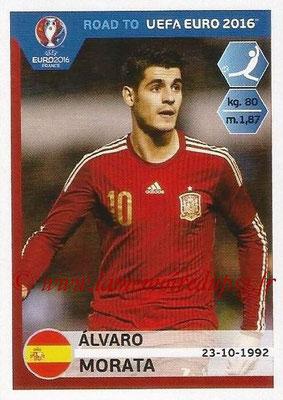 Panini Road to Euro 2016 Stickers - N° 095 - Alvaro MORATA (Espagne)