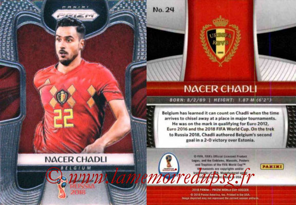 2018 - Panini Prizm FIFA World Cup Russia - N° 024 - Nacer CHADLI (Belgique)