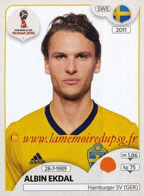 2018 - Panini FIFA World Cup Russia Stickers - N° 487 - Albin EKDAL (Suede)