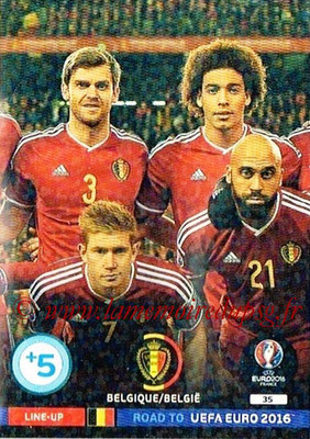 Panini Road to Euro 2016 Cards - N° 035 - Equipe Belgique 2