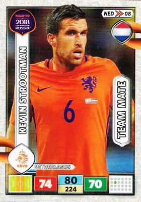 2018 - Panini Road to FIFA World Cup Russia Adrenalyn XL - N° NED08 - Kevin STROOTMAN (Pays-Bas)