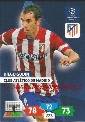 2013-14 - Adrenalyn XL champions League N° 056 - Diego GODIN (Club Atlético de Madrid)