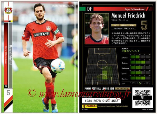 Panini Football League 2013 - PFL04 - N° 106 - Manuel FRIEDRICH (Bayer Leverkusen)