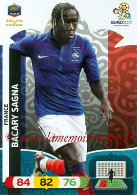 Panini Euro 2012 Cards Adrenalyn XL - N° 080 - Baccary SAGNA (France)