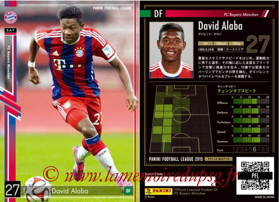 Panini Football League 2015 - PFL14 - N° 065 - David ALABA (FC Bayern Munich)