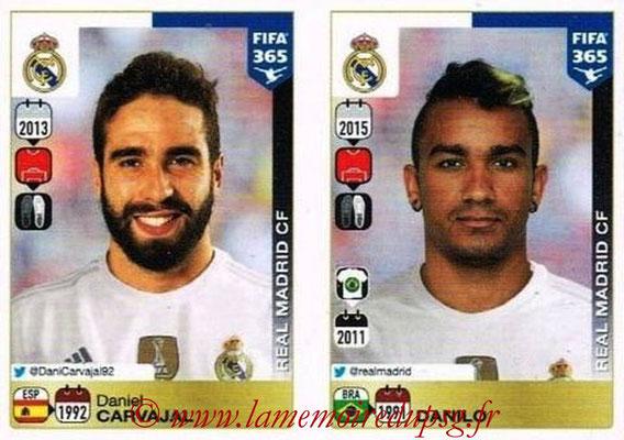 2015-16 - Panini FIFA 365 Stickers - N° 378-379 - Daniel CARVAJAL + DANILO (Real Madrid CF)