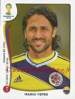 2014 - Panini FIFA World Cup Brazil Stickers - N° 187 - Mario YEPES (Colombie)