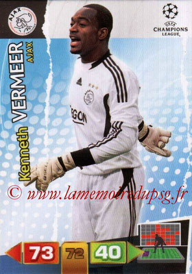2011-12 - Panini Champions League Cards - N° 001 - Kenneth VERMEER (AFC Ajax)