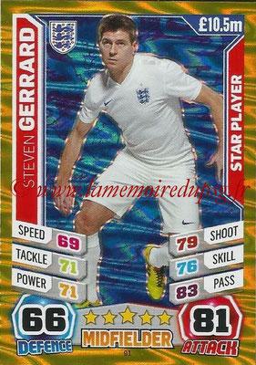 Topps Match Attax England 2014 - N° 091 - Steven GERRARD (Angleterre) (Star Player)