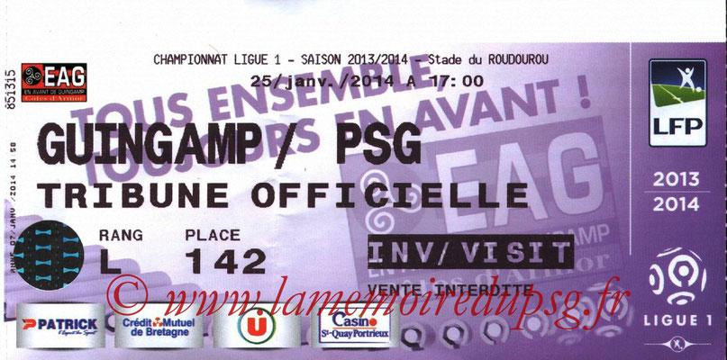 Tickets  Guingamp-PSG  2013-14