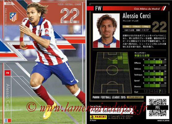 Panini Football League 2015 - PFL09 - N° 060 - Alessio CERCI (Atletico Madrid) (Star)