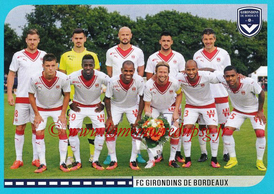 2016-17 - Panini Ligue 1 Stickers - N° 088 - Equipe Bodeaux