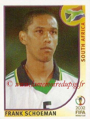 2002 - Panini FIFA World Cup Stickers - N° 157 - Frank SCHOEMAN (Afrique du Sud)