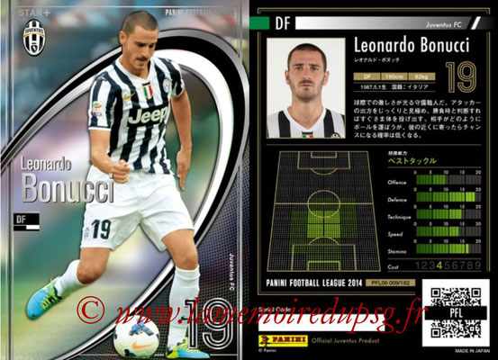 Panini Football League 2014 - PFL06 - N° 009 - Leonardo BONUCCI (Juventus FC) (Star +)