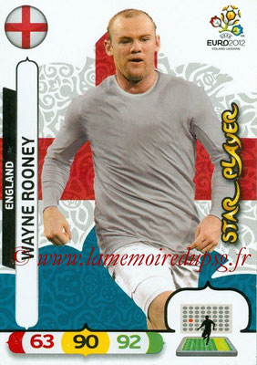 Panini Euro 2012 Cards Adrenalyn XL - N° 057 - Wayne ROONEY (Angleterre) (Star Player)