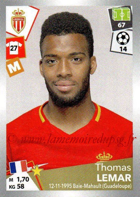 2017-18 - Panini Ligue 1 Stickers - N° 271 - Thomas LEMAR (Monaco)