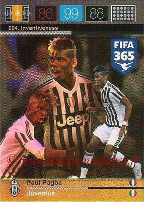 2015-16 - Panini Adrenalyn XL FIFA 365 - N° 294 - Paul POGBA (Juventus FC) (Inventiveness)