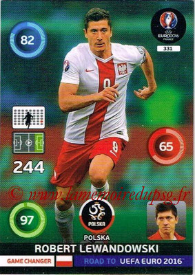 Panini Road to Euro 2016 Cards - N° 331 - Robert LEWANDOWSKI (Pologne) (Game Changer)