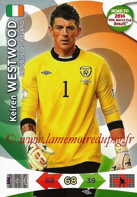 2014 - Panini Road to FIFA World Cup Brazil Adrenalyn XL - N° 109 - Keiren WESTWOOD (République d'Irlande)
