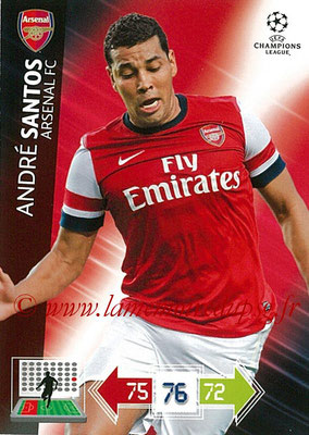 2012-13 - Adrenalyn XL champions League N° 017 - André SANTOS (Arsenal FC)