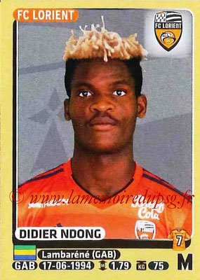 2015-16 - Panini Ligue 1 Stickers - N° 185 - Didier NDONG (FC Lorient)
