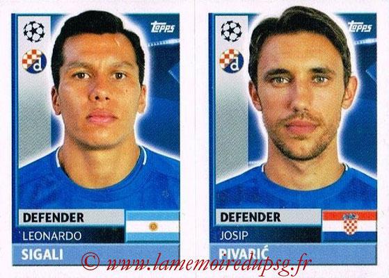2016-17 - Topps UEFA Champions League Stickers - N° QFC 5-6 - Josip PIVARIC + Leonardo SIGALI (GNK Dynamo Zagreb)