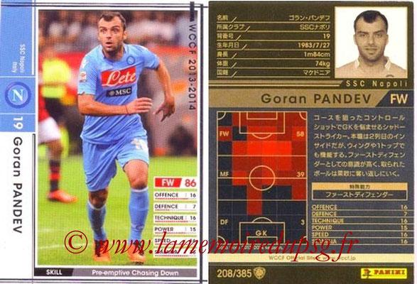 2013-14 - WCCF - N° 208 - Goran PANDEV (SSC Napoli)
