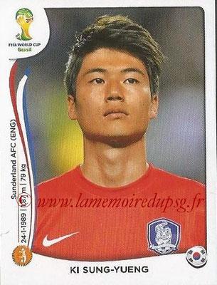 2014 - Panini FIFA World Cup Brazil Stickers - N° 632 - Ki SUNG-YUENG (Corée du Sud)