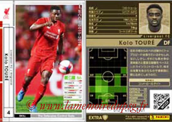 2015-16 - Panini WCCF - N° EXT02 - Kolo TOURE (Liverpool FC) (Extra)