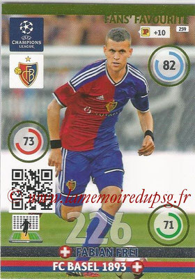2014-15 - Adrenalyn XL champions League N° 259 - Fabian Frei (FC Basel 1893) ( Fans' Favourite)