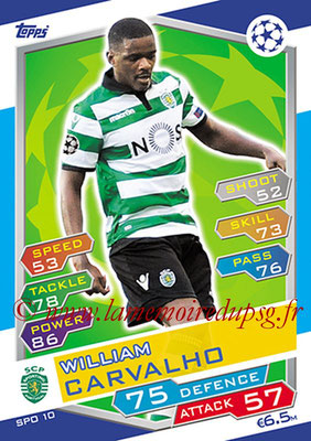 2016-17 - Topps UEFA Champions League Match Attax - N° SPO10 - William CARVALHO (Sporting Club de Portugal)