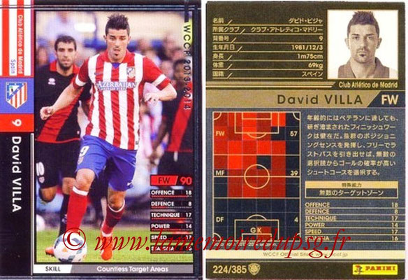 2013-14 - WCCF - N° 224 - David VILLA (Atletico Madrid)