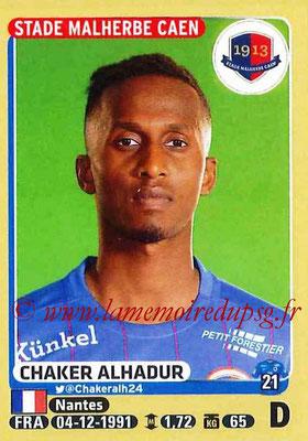 2015-16 - Panini Ligue 1 Stickers - N° 100 - Chaker ALHADUR (SM Caen)