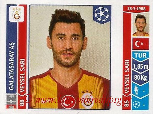 2014-15 - Panini Champions League N° 290 - Veysel SARI (Galatasaray AS)