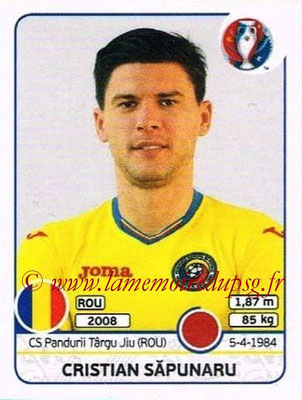 Panini Euro 2016 Stickers - N° 056 - Cristian SAPUNARU (Roumanie)