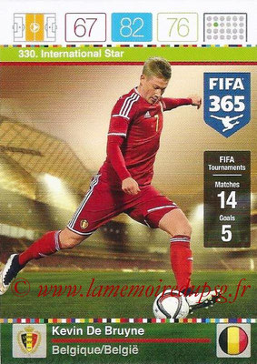 2015-16 - Panini Adrenalyn XL FIFA 365 - N° 330 - Kevin DE BRUYNE (Belgique) (International Star)
