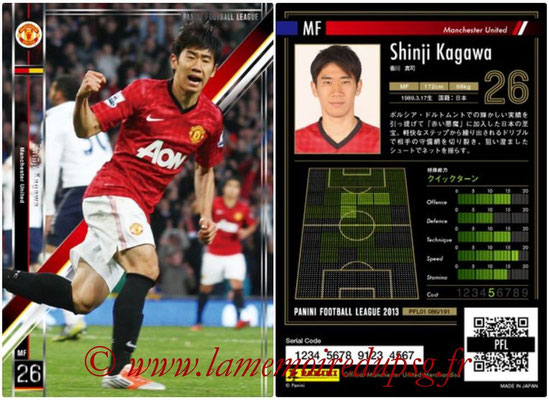 Panini Football League 2013 - PFL01 - N° 086 - Shinji Kagawa ( Manchester United  )