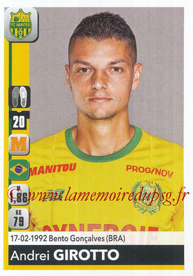 2018-19 - Panini Ligue 1 Stickers - N° 287 - Andrei GIROTTO (Nantes)