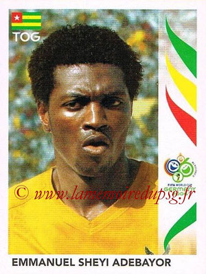 2006 - Panini FIFA World Cup Germany Stickers - N° 527 - Emmanuel SHEYI ADEBAYOR (Togo)