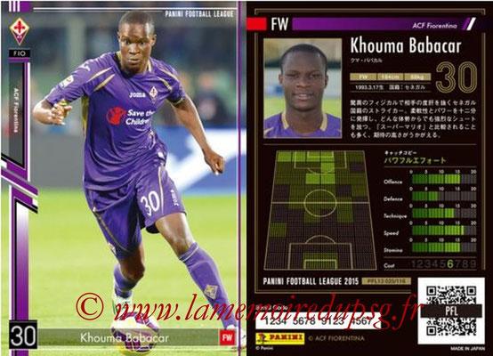 Panini Football League 2015 - PFL13 - N° 025 - Khouma BABACAR (ACF Fiorentina)