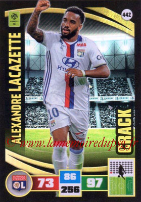 2016-17 - Panini Adrenalyn XL Ligue 1 - N° 442 - Alexande LACAZETTE (Lyon) (Crack)