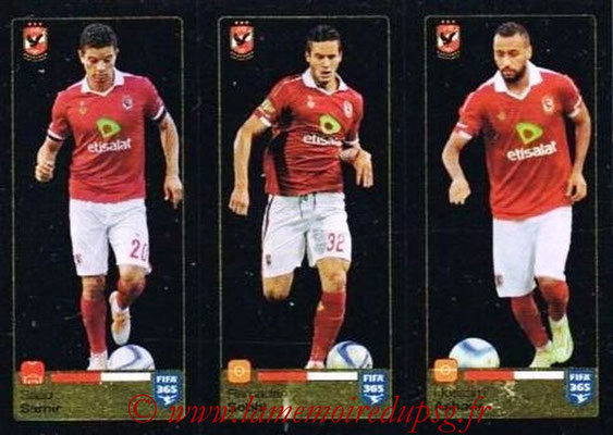 2015-16 - Panini FIFA 365 Stickers - N° 293-294-295 - Saad SAMIR + Ramadan SOBHI +Hossam ASHOUR (Al Ahly SC)