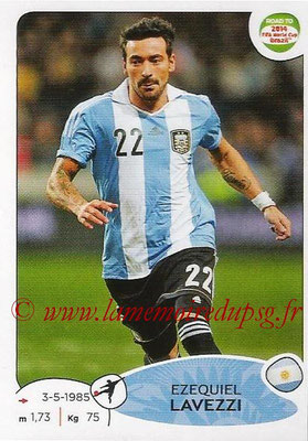 2014 - Panini Road to FIFA World Cup Brazil Stickers - N° 071 - Ezequiel LAVEZZI (Argentine)