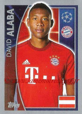 2015-16 - Topps UEFA Champions League Stickers - N° 382 - David ALABA (FC Bayern Munich)