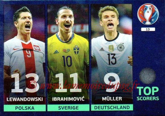 Panini Euro 2016 Cards - N° 013 - Lewandowski + Ibrahimovic + Müller (Top Scorers)
