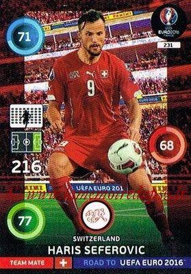 Panini Road to Euro 2016 Cards - N° 231 - Haris SEFEROVIC (Suisse)