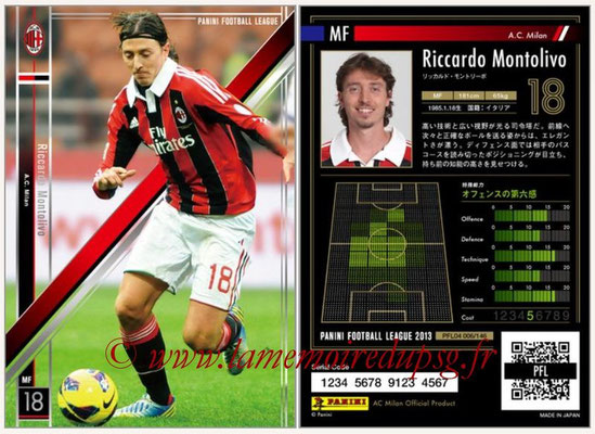 Panini Football League 2013 - PFL04 - N° 006 - Riccardo MONTOLIVO (Milan AC)
