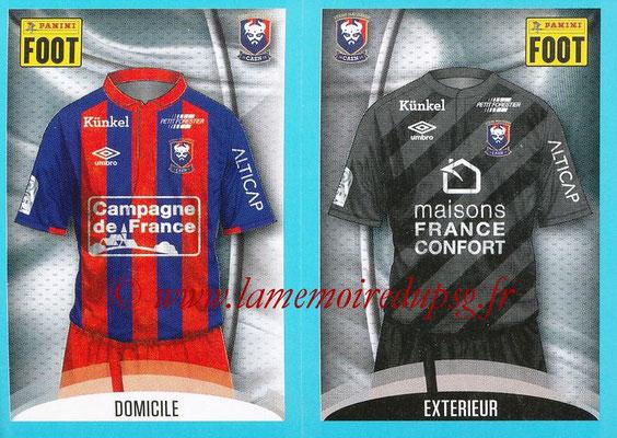 2016-17 - Panini Ligue 1 Stickers - N° 132 + 133 - Maillot Domicile + Extérieur (Caen)